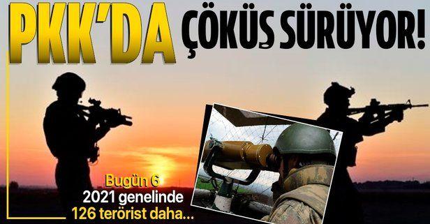 Terör örgütü PKK'da çözülme devam ediyor: 6 örgüt mensubu daha ikna yoluyla teslim oldu