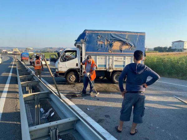 Silivri E-5'de trafiği kilitleyen kaza
