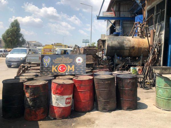 Adana'da 10 bin litre kaçak akaryakıt ele geçirildi