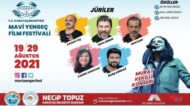 1. Ulusal Mavi Yengeç Kısa Film Festivali, Karataş'ta yapılacak