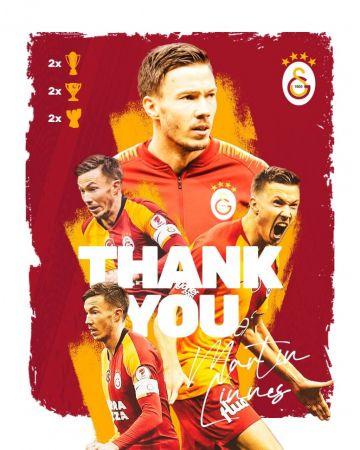 Galatasaray'dan Martin Linnes'e teşekkür