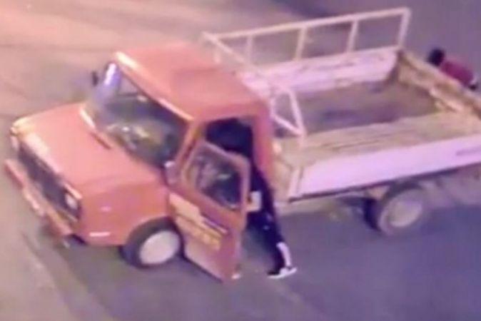 Konya'daki küs eşiyle görüşüp barışabilmek için iki ayrı kamyonet çaldı