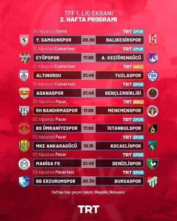 TFF 1. Lig heyecanı TRT'de yaşanıyor