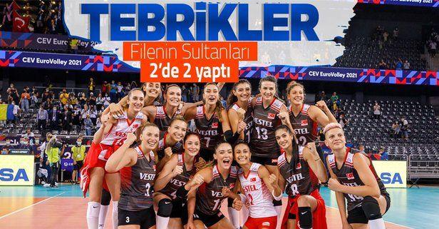 Filenin Sultanları 2'de 2 yaptı! Türkiye 3-0 Ukrayna