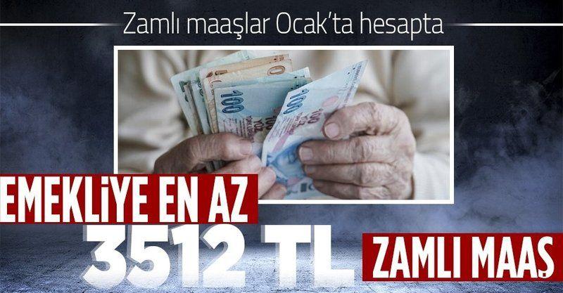Ocak'ta maaşlar artıyor! Ocak artışı yüzde 7.21'ye ulaşacak: Emekliye en az 3.512 TL