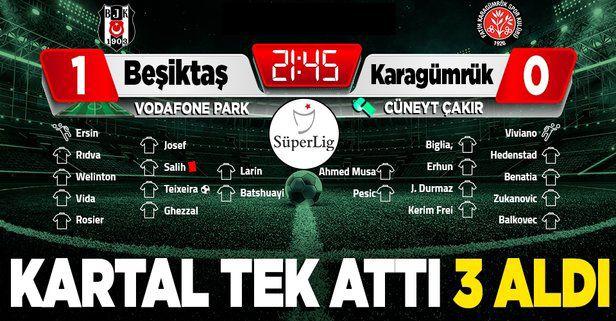 Beşiktaş tek attı 3 aldı! (Beşiktaş 1-0 Fatih Karagümrük)