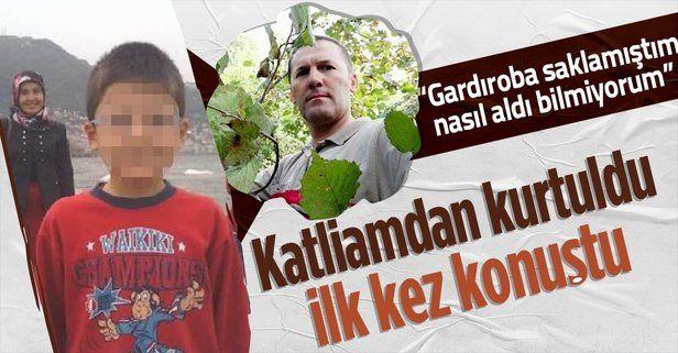 Ordu'daki aile katliamından yaralı kurtulan baba: Tabancamı saklamıştım, nasıl aldı bilmiyorum