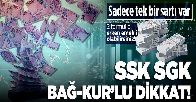SSK SGK Bağ-Kur'lular iki formülle 10 yılda emekli oluyor! 3600 ve 7200 kuralına dikkat!