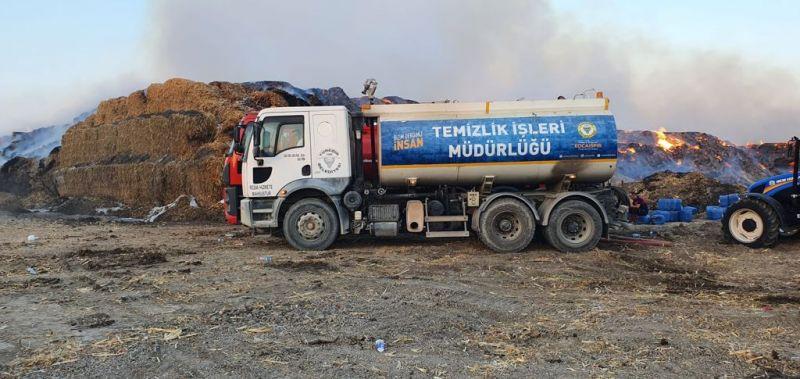 Yüreğir Belediyesi Yangın Bölgesine Arazöz Gönderdi
