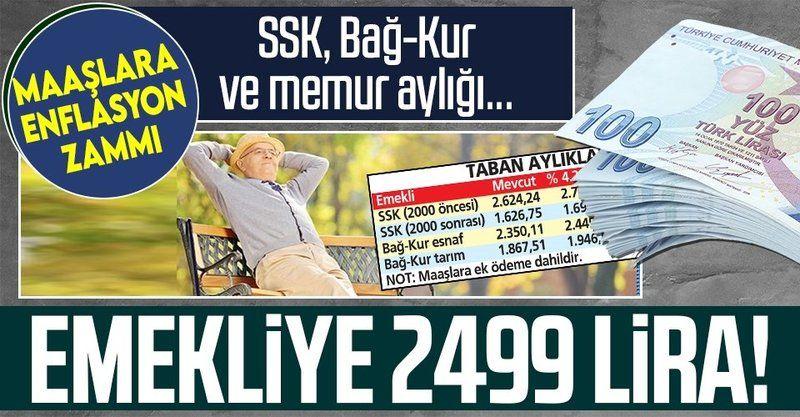 SSK - SGK ve Bağkur'lular sevinçten havalara uçacak! Yeni yılda emekliye 2 bin 499 TL zamlı maaş müjdesi!