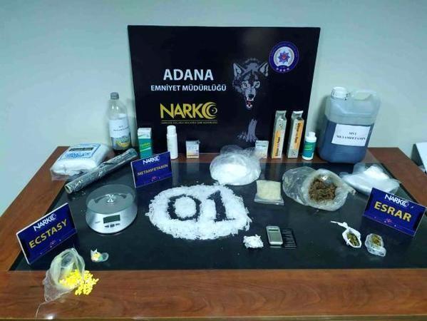 Adana'da uyuşturucu operasyonuna 1 tutuklama