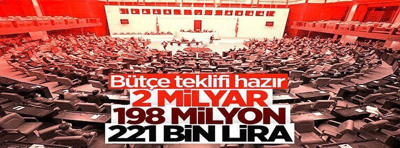 Mustafa Şentop, Meclis'in 2022 Yılı Bütçe Teklifi'ni açıkladı