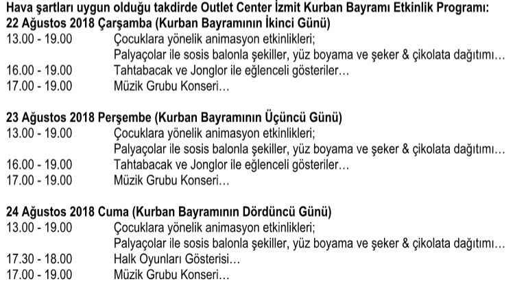 Outlet Center Kurban Bayrami Icin Hazir En Kocaeli