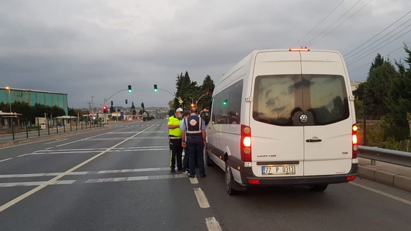 İllegal servisler trafikten men edildi