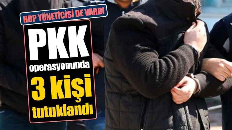 HDP yöneticisi de vardı: PKK  operasyonunda 3 kişi tutuklandı
