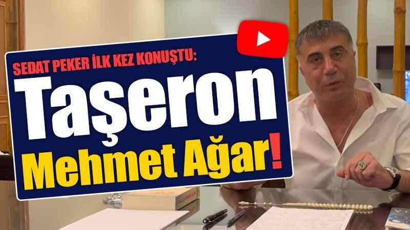Sedat Peker bir yıl sonra ilk kez konuştu: Taşeron Mehmet Ağar!