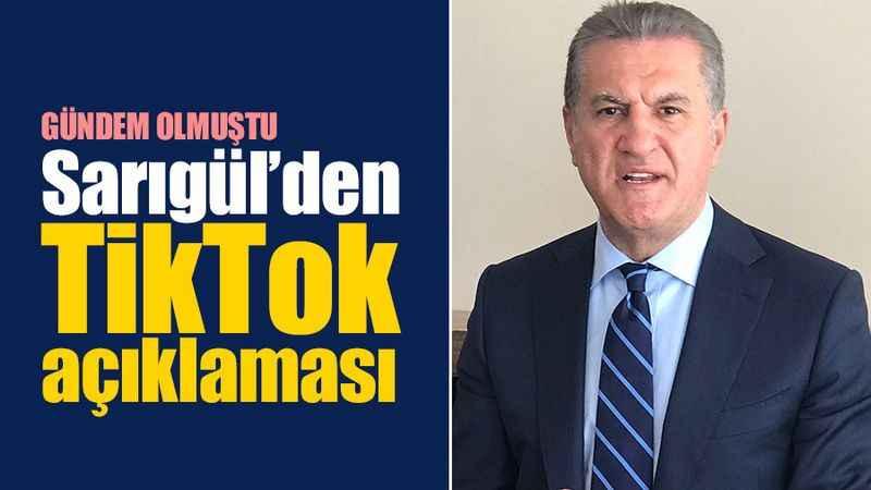 Mustafa Sarıgül'den TikTok açıklaması: Biz doğalız