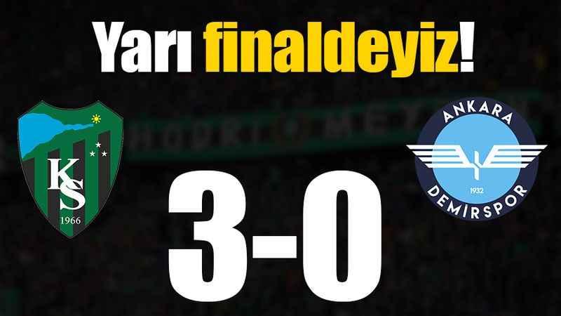 Yarı finaldeyiz: 3-0