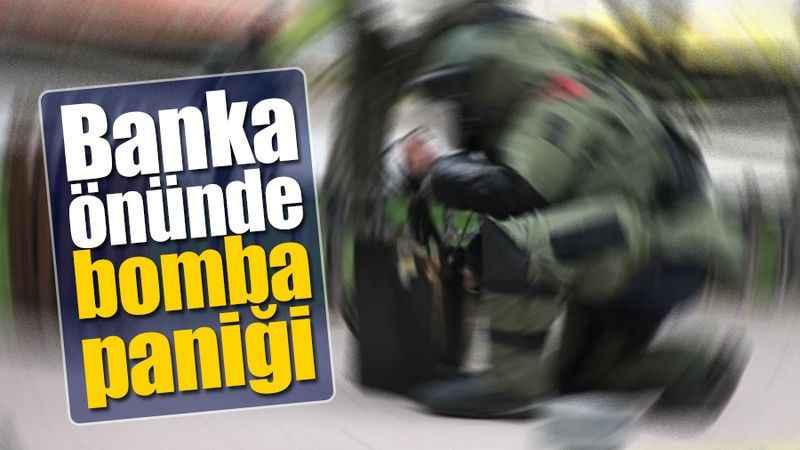 Kocaeli'de banka önünde bomba paniği