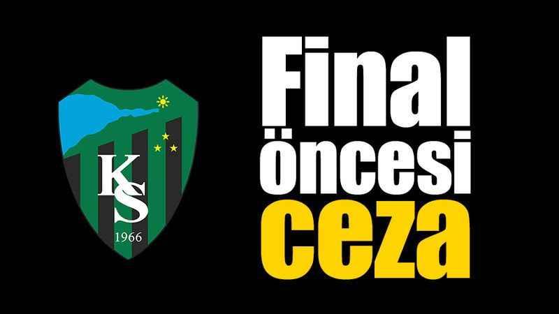 Kocaelispor'a final öncesi ceza!