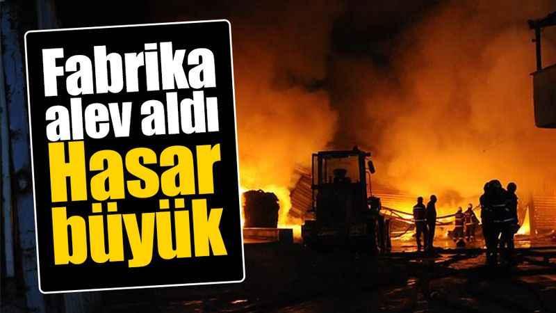 Lojmandan sıçrayan yangın fabrikayı küle döndürdü