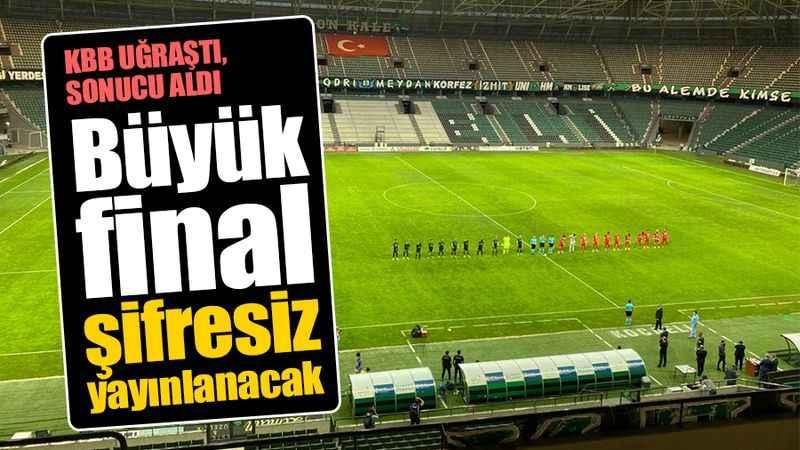 KBB'nin girişimleriye Kocaelispor Sakaryaspor maçı şifresiz yayınlanacak. İşte frekans bilgileri