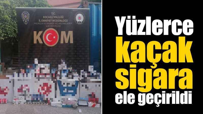 Kocaeli'de yüzlerce kaçak sigara ele geçirildi