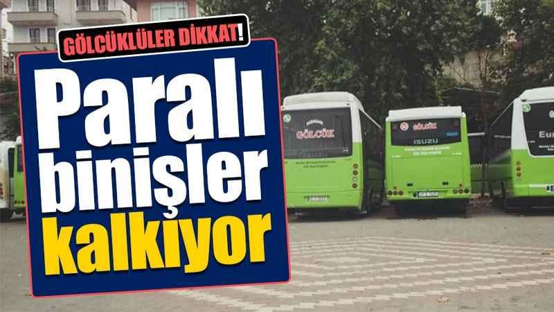 Gölcüklüler dikkat! Gölcük-İzmit otobüsünde paralı binişler kalkıyor! Sadece KentKart