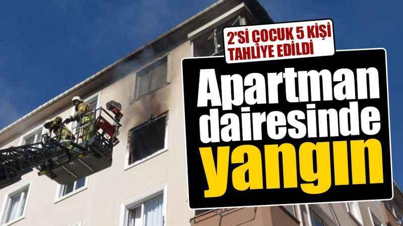 2'si çocuk 5 kişi tahliye edildi: Apartman dairesinde yangın