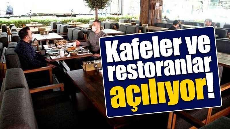 Kafe, restoran ve salonlar açılıyor. İşte detaylar