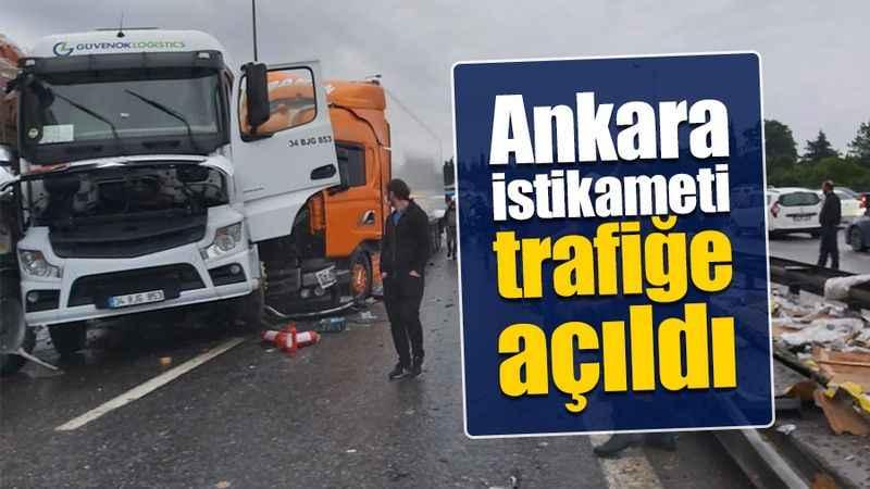 Korkunç kaza sonrası kapanan TEM'in Ankara istikameti trafiğe açıldı