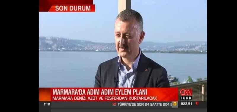 Büyükakın: 22 maddeyle Marmara Denizini kurtaracağız