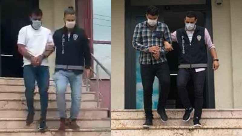 İki kişiyi gasp etmişlerdi: Yakalandılar