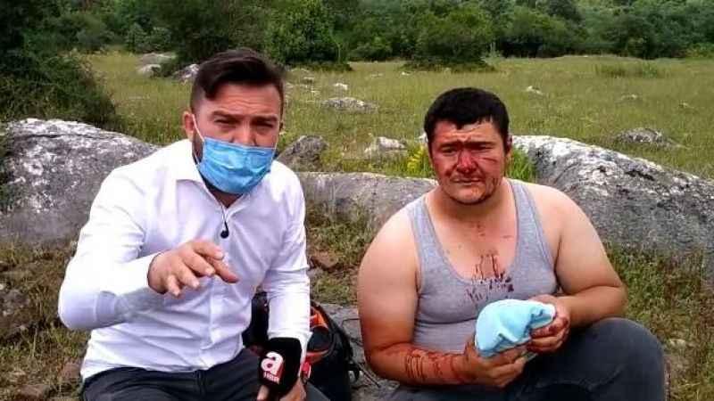 Lütfü Türkkan'ın kaçak çiftliğinde gazeteciye dayak!