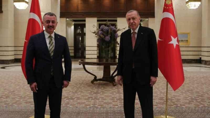 Toplantı bitti. Erdoğan ve Büyükakın görüştü