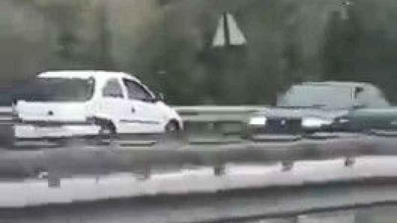 Ters yöne giren sürücü ölüme meydan okudu