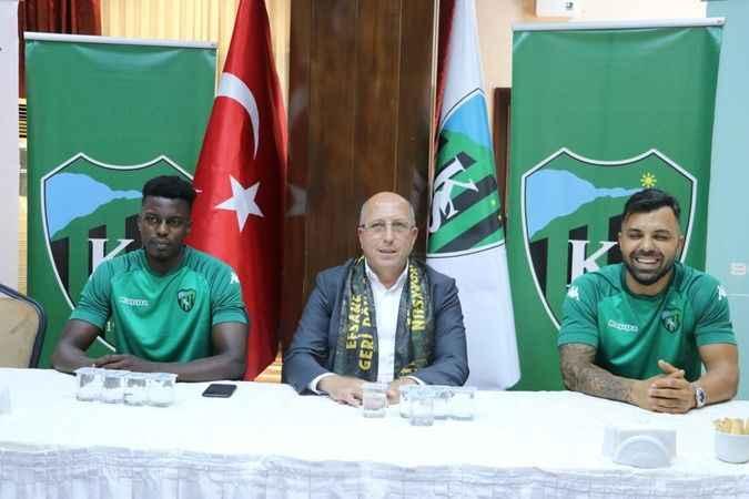 Kocaelispor, Michael Pereira ve Hasan Hatipoğlu'yu renklerine bağladı