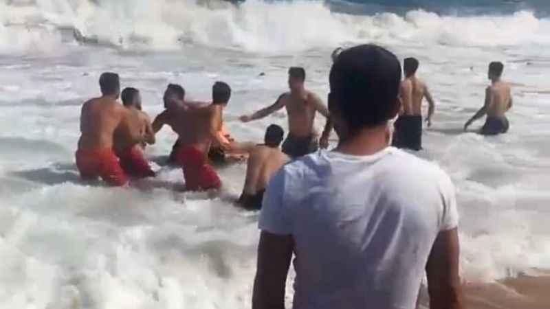 Bağırganlı'da bir kişi denizde kayboldu! İşte korku dolu anlar