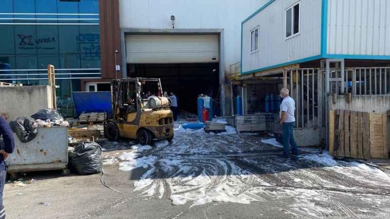 Fabrikada LPG tüpü patladı