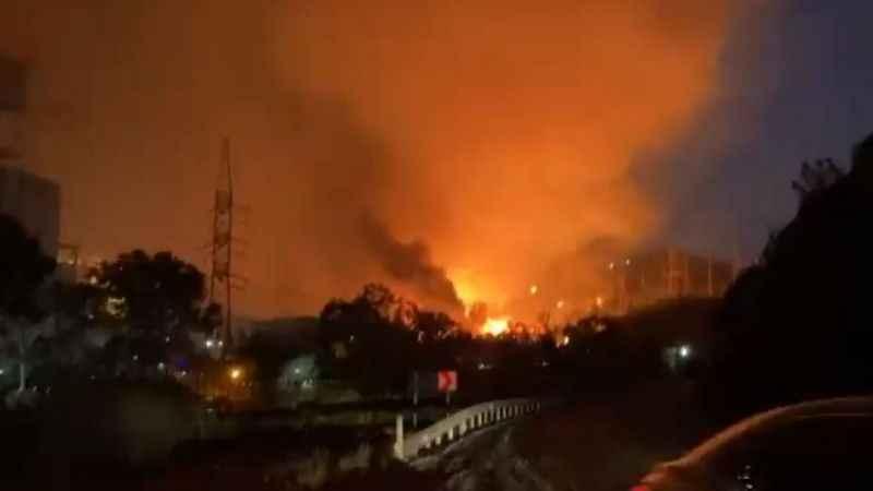 Milas'ta alevler Kemerköy Termik Santral'e geldi