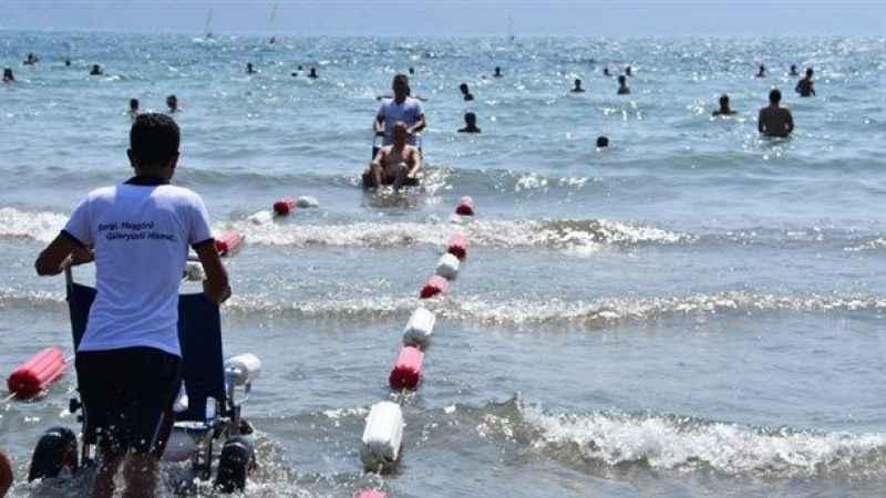 Büyükşehir'den engelsiz deniz festivali