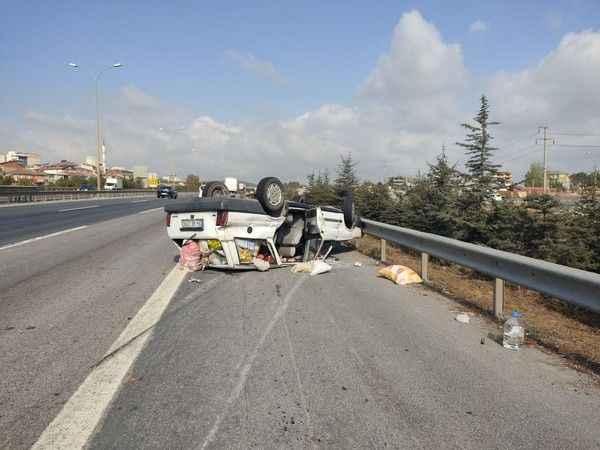 TEM'DE feci kaza. 6 yaralı