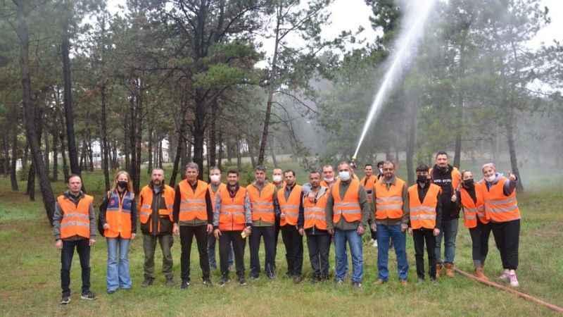 Gönüllülerden orman yangınlarına müdahale