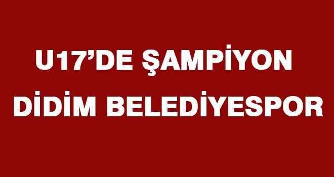 U17'de şampiyon Didim Belediyespor