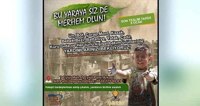 AK Parti'den Halep için yardım kampanyası