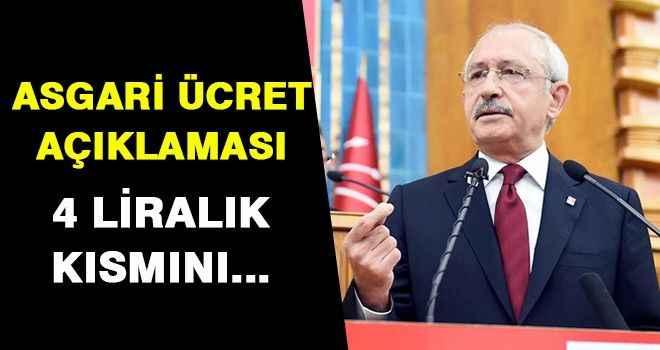 Kılıçdaroğlu'ndan asgari ücretle ilgili açıklama