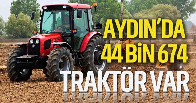 Aydın'da 44 bin 674 traktör var