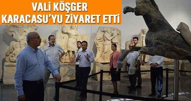 Vali Köşger Karacasu'yu ziyaret etti
