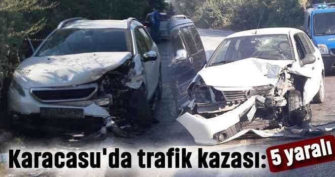 Karacasu'da trafik kazası: 5 yaralı