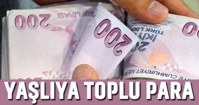 Yaşlıya toplu para